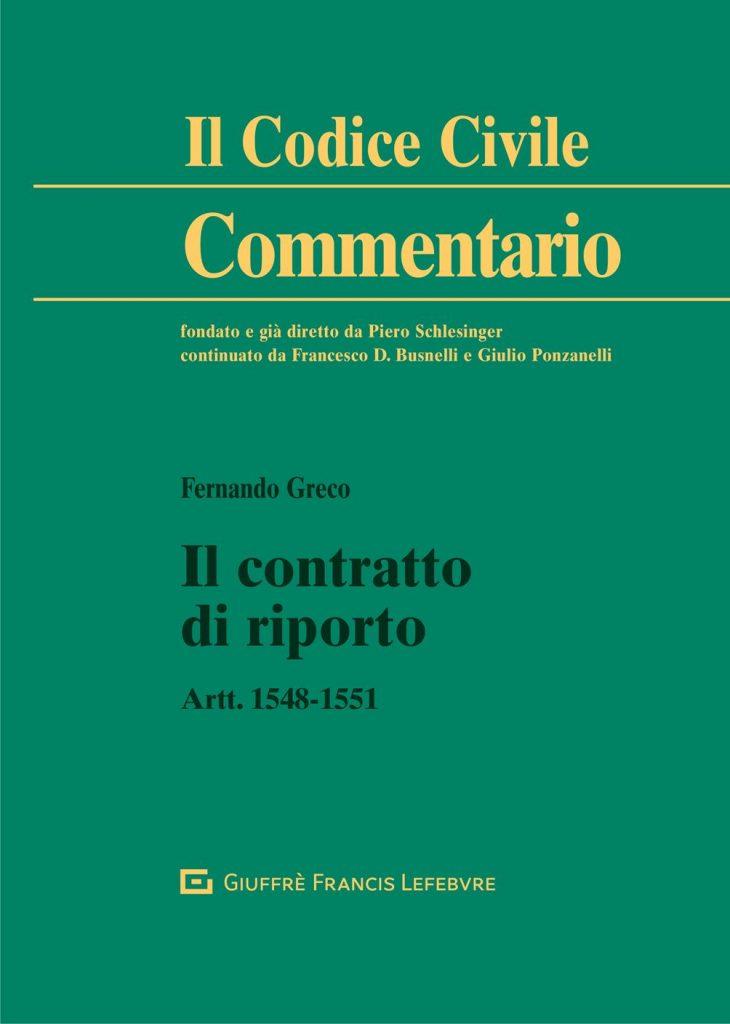 F. Greco_Il contratto di riporto_Copertina
